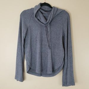 Gray Pullover Sweateshirt Cowl Neck Size XS G11